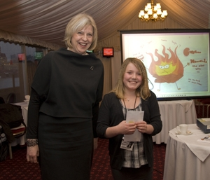 Theresa May MP with Scarlett Pugsley