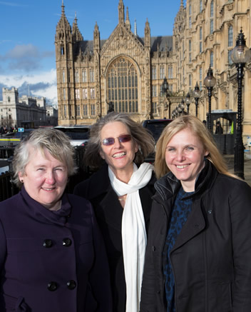 Veronica Freelove, Stephanie Trotter, OBE President of CO-Gas Safety and Beverley Durber, Nurse.